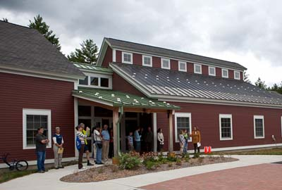 The new Visitor Center at Assabet River NWR on opening day. Photo courtesy of David Griffin.