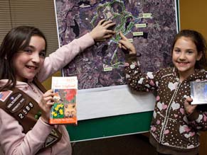 Maynard Girl Scout Troop 2588 came up with the 'Pine Garden Trail'